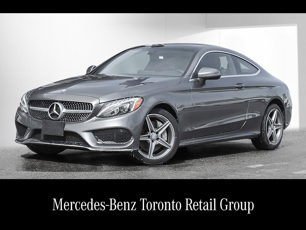 Certified pre owned 2017 mercedes benz c class c300 2 door for 2017 mercedes benz c300 4matic sedan